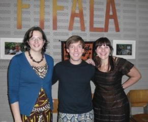 DROS DIEST Fifala voorstelling ex-stagiairs in Koutienso