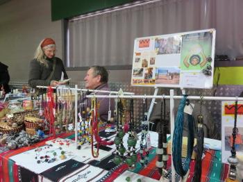 Christiane op de kerstmarkt van Eksaarde (Lokeren)